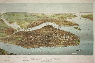Map of Greater New York, 1897--Giclee Print