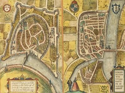 Map of Grenoble and Le Mans from Civitates Orbis Terrarum--Giclee Print