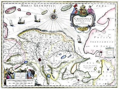 Map of Groningen, Netherlands, 17th Century-Barthold Wicheringe-Giclee Print