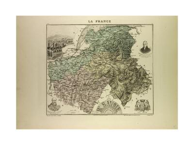 Map of Haute Savoie 1896 France--Giclee Print