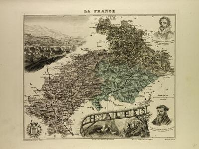 Map of Hautes Alpes 1896 France--Giclee Print