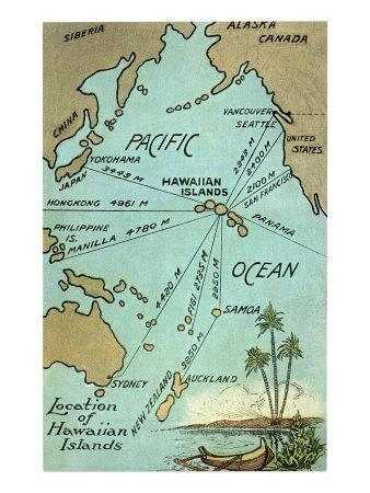 photo regarding Printable Map of Hawaii identify Map of Hawaii Artwork Print by means of