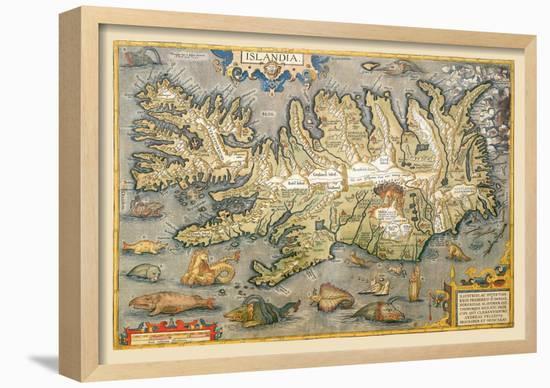 Map of Iceland-Abraham Ortelius-Framed Giclee Print