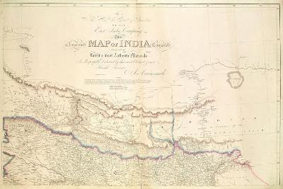 Map of India, 1822-Aaron Arrowsmith-Giclee Print