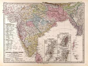 Map of India, 1876