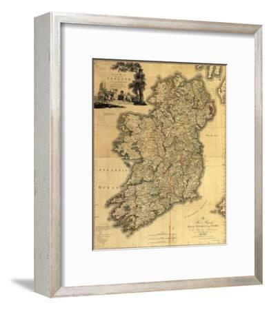 Map of Ireland from 18th Century, Showing Counties, When All of Ireland Was under British Rule