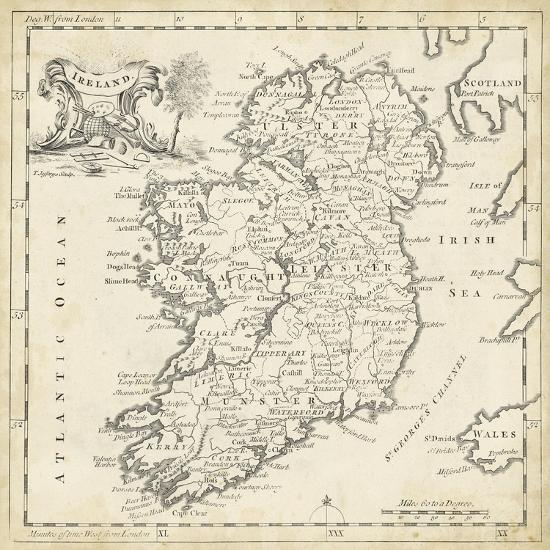 Print Map Of Ireland.Map Of Ireland Art Print By T Jeffreys Art Com