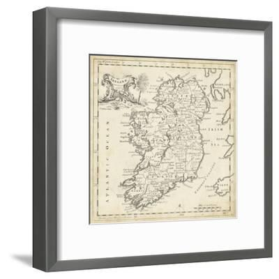 Map of Ireland-T^ Jeffreys-Framed Art Print