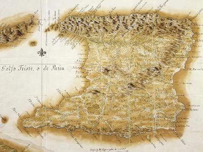 Map of Island of Trinidad, 1777, Trinidad and Tobago, 18th Century--Giclee Print
