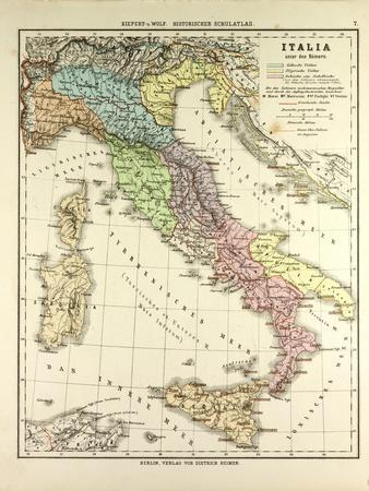 graphic regarding Printable Maps of Italy titled Map of Italy Throughout the Roman Empire Giclee Print through