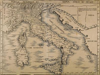 Map of Italy, from Geographiae Opus Novissima--Giclee Print