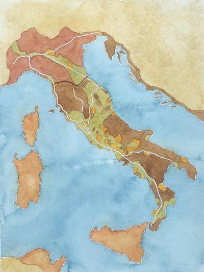 Map of Italy Illustrates Territorial Subdivisions at Outbreak of Social War, 91 BC--Giclee Print