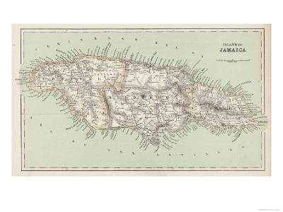 Map of Jamaica--Giclee Print