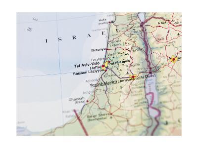 Map of Jerusalem-gemenacom-Art Print