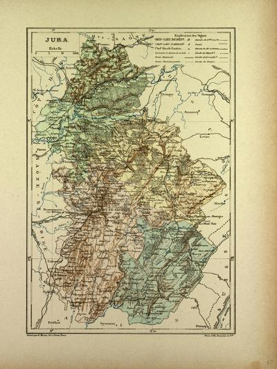 Map of Jura France--Giclee Print