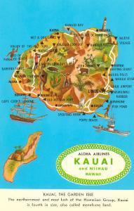 Map of Kauai, Hawaii
