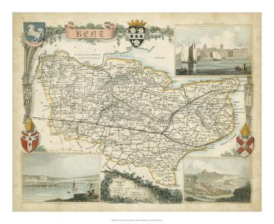 Map of Kent--Giclee Print