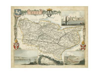 Map of Kent--Art Print