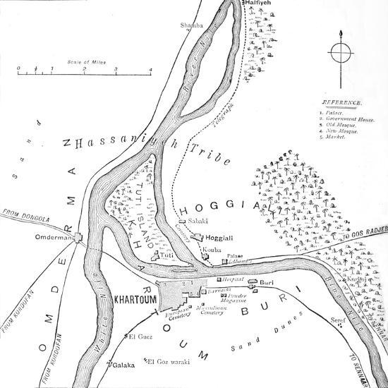 'Map of Khartoum and Vicinity', c1885-Unknown-Giclee Print