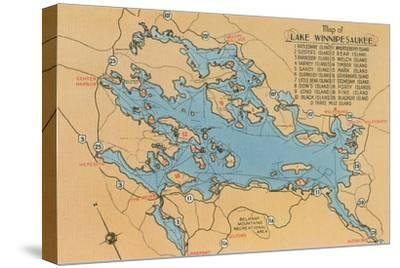 Map of Lake Winnipesaukee, New Hampshire