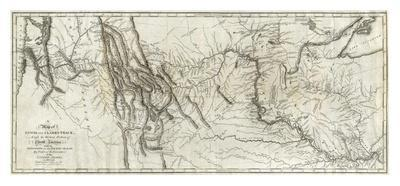 photograph regarding Lewis and Clark Printable Map titled Map of Lewis and Clarks Monitor, Throughout the Western Aspect of North The united states, c.1814 Artwork Print through Lewis Clark