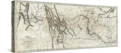 photo regarding Lewis and Clark Printable Map referred to as Map of Lewis and Clarks Monitor, Throughout the Western Part of North The us, c.1814 Stretched Canvas Print through Lewis Clark