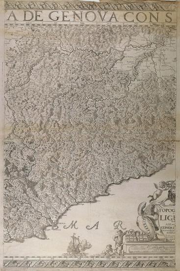 Map of Liguria, 2nd Part-Joseph Chaffrion-Giclee Print