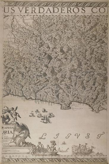 Map of Liguria, 3rd Part-Joseph Chaffrion-Giclee Print