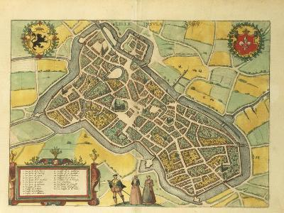 Map of Lille from Civitates Orbis Terrarum--Giclee Print