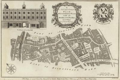 Map of Lime Street Ward, London--Giclee Print
