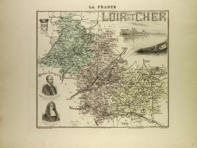 Map of Loir and Cher 1896, France--Giclee Print