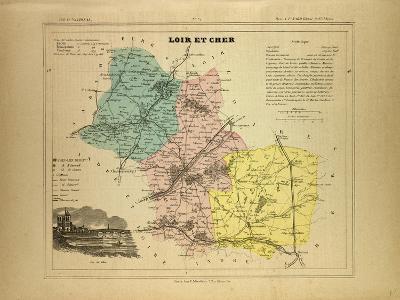 Map of Loir Et Cher, France--Giclee Print