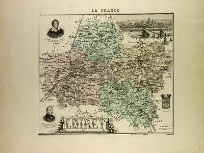 Map of Loiret 1896, France--Giclee Print
