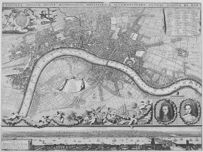 Map of London, 1690-Johannes de Ram-Giclee Print