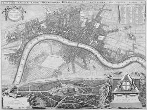 Map of London, 1690
