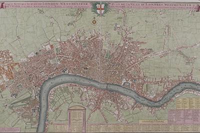Map of London, 1725--Giclee Print