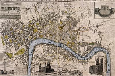 Map of London, 1798--Giclee Print