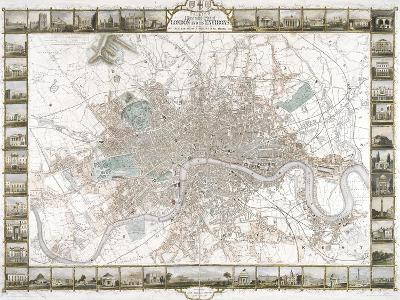 Map of London, 1851-J Rapkin-Giclee Print