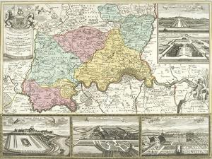 Map of London and Surrounding Counties, 1710