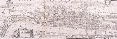 Map of London, C1560--Giclee Print