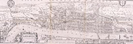 Map of London, C1560--Giclee Print