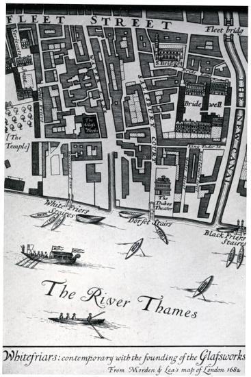 Map of London Featuring Whitefriars, 1682- Morden & Lea-Giclee Print