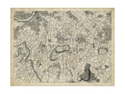 Map of London Grid XI--Art Print