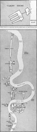 Map of London's Docks, 1908