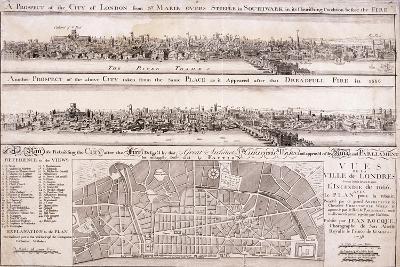 Map of London-Christopher Wren-Giclee Print