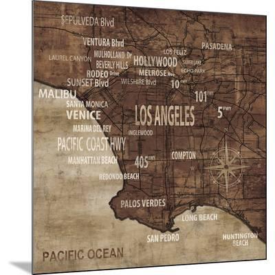Map of Los Angeles-Luke Wilson-Mounted Print