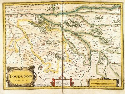Map of Loudunois in 1627, 1631--Giclee Print