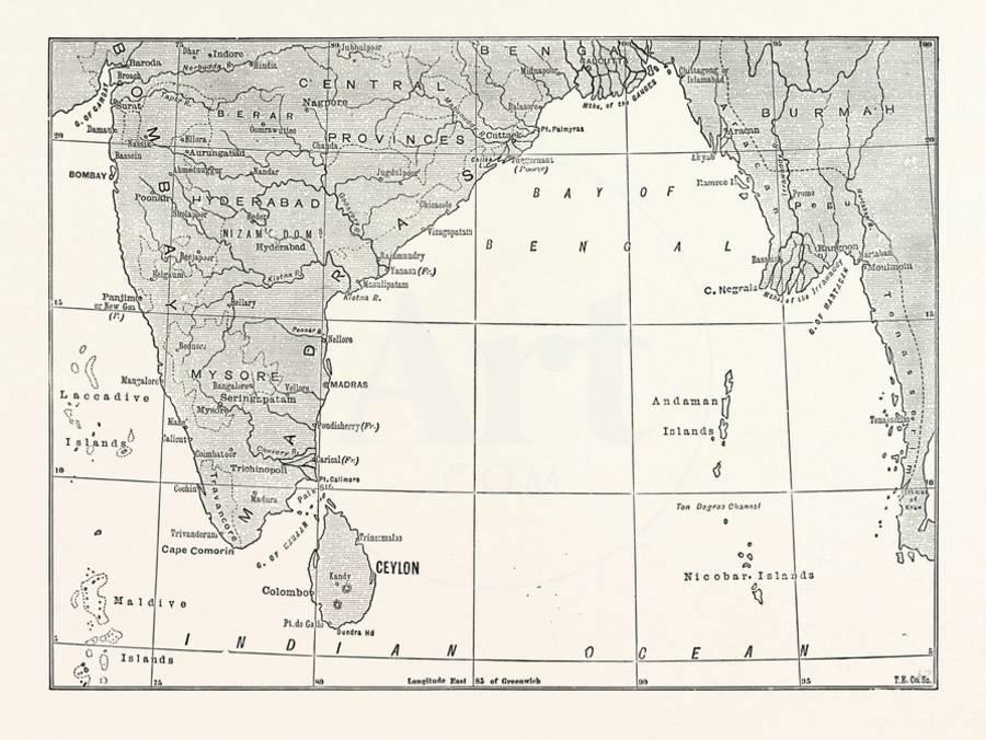 Map of Lower India and Ceylon, Sri Lanka Giclee Print by | Art.com Map Ceylon on tunis map, sumatra map, timbuktu map, bengal map, punjab map, moluccas map, canton map, south asia, malaysia map, china map, kiev map, ghana map, burma map, japan map, gujarat map, kabul map, damascus map, morocco map, singapore map, tibet map, congo africa located on map,