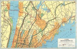 Map of Lower Westchester County, New York
