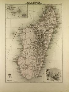 Map of Madagascar and Comoros 1896